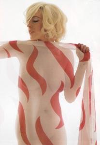 Lindsay Lohan in the nude ala Marilyn Monroe