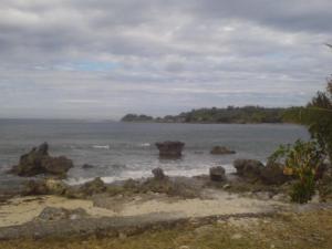 the lovely uninhabited beach cove in Ilocos