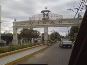 This is the sign leading to the City of Vigan