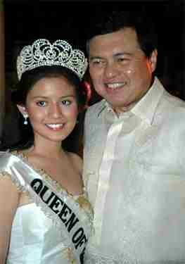 Camille Villar with dad, Senator Manny Villar
