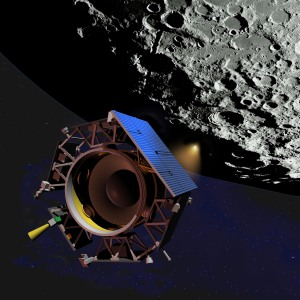 Artist rendition of yesterday's moon blasting
