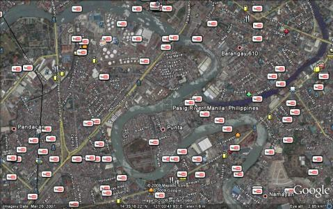 Pasig river and tributaries